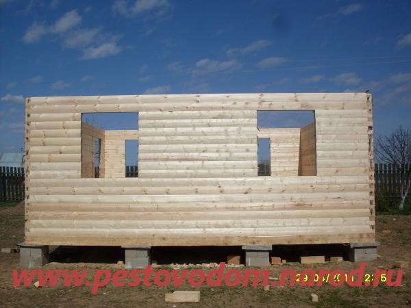 Строим дом из бруса пошаговое