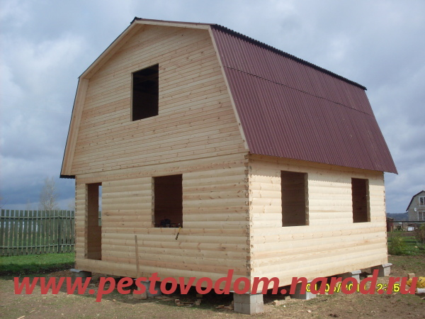 Дом с покрытие ондулин