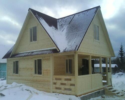 Готовый дом многофронтонник