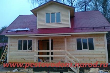 Строительство домов из бруса в Москве под ключ проекты