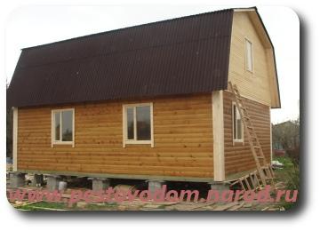 Деревянный дом из бруса фото