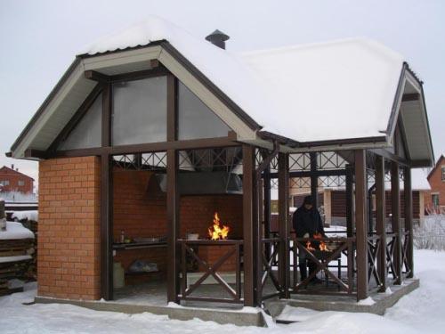 Загородная летняя кухня