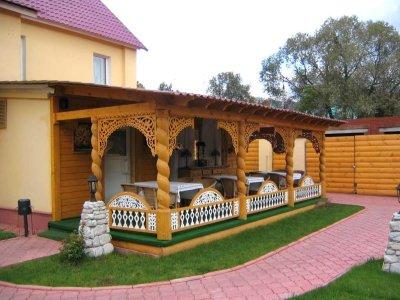 Летняя кухня с баней