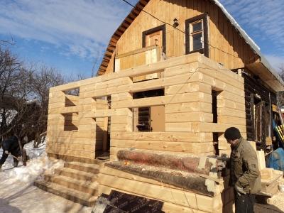 Фото пристройки деревянной к дому