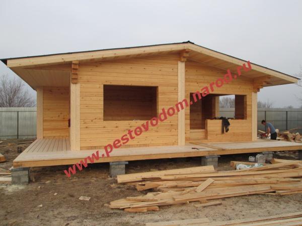 Красивые деревянные дома из бруса от компании ДревЦентр