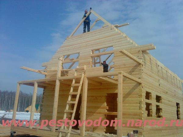 С объекта строительство дома