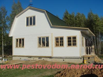 Деревянный дом из бруса под ключ