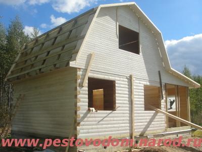 Кровля деревянного дома покрытие