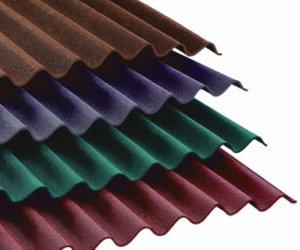 Покрытие крыши ондулином цвета на
