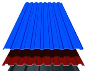Покрытие крыши пронастилом