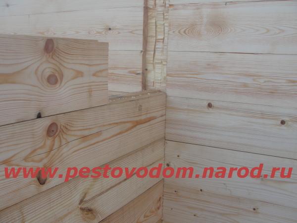 Монтаж перегородки брусовой внтури дома