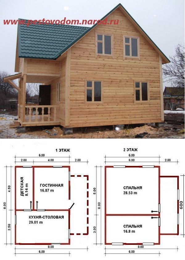 Дом из бруса 8 на 8 построить своими руками 3